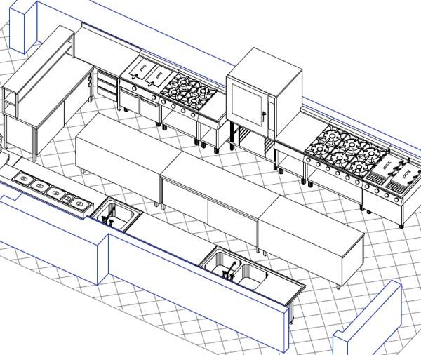 Thiết kế bếp công nghiệp cho resort