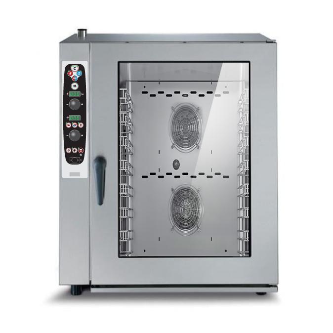 Lò hấp nướng đa năng 10 khay Lainox điều khiển kỹ thuật số REV101S