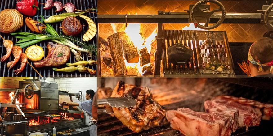 Lò nướng thịt BBQ có tay quay