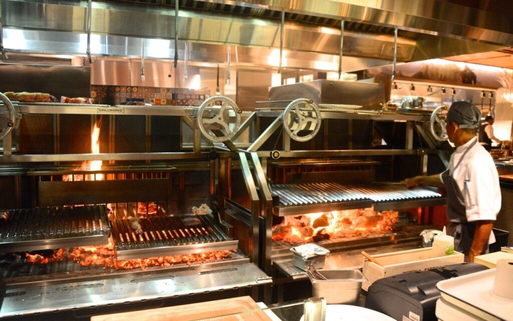 Lò nướng thịt quay tay