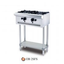Bếp Âu 2 Họng Berjaya, OB 2SFS, Bếp âu Berjaya, Bếp âu 2 họng, Bếp âu công nghiệp, Bếp âu 2 họng Berjaya, Thiết bị bếp âu, bếp Berjaya, thiết kế bếp căn tin
