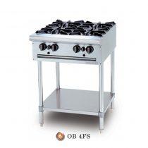 Bếp Âu 4 Họng, OB 4 , Bếp âu Berjaya, Bếp âu công nghiệp, Bếp âu 4 họng Berjaya, bếp âu 4 có chân, bếp âu cho bếp nhà hàng, bếp âu công nghiệp berjaya, Bếp âu Berjaya