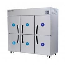Tủ Đông Mát 6 Cánh Modelux - MDS-1660HRF1, Tủ đông mát 6 cánh, tủ 4 đông 2 mát , tủ lạnh 6 cánh modelux, tủ trữ đông cho khu bếp, tủ đông mát cho nhà hàng