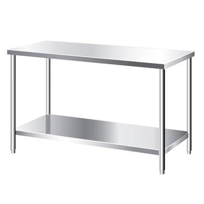 Bàn inox 2 tầng, bàn 1 tầng có kệ dưới phẳng, bàn inox công nghiệp, bàn 2 tầng inox, bàn inox cho bếp, bàn inox công nghiệp 2 tầng, bàn 2 tầng cho bếp