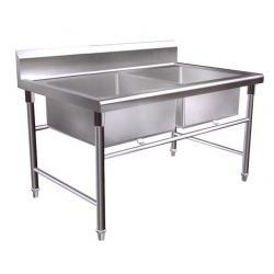 Bồn rửa đôi, bồn rửa công nghiệp, bồn rửa cho bếp nhà hàng, bồn rửa inox 304, bồn rửa bằng inox, bồn rửa công nghiệp, bồn rửa sơ chế, bồn rửa thịt, bồn rửa