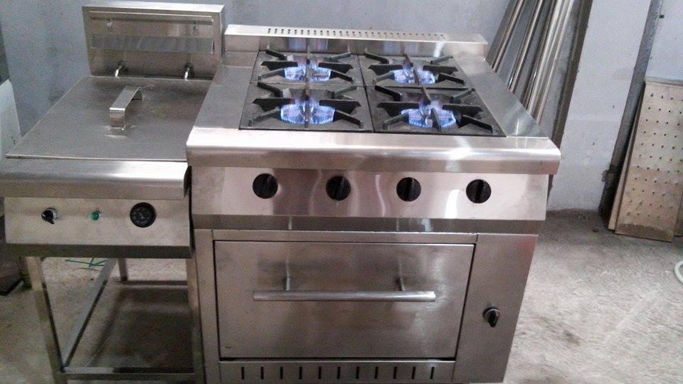 Bếp âu 4 họng không lò nướng, bếp âu công nghiệp không lò nướng, bếp âu không lò nướng, bếp âu họng, bếp âu công nghiệp, bếp âu cho nhà hàng, bếp âu 4 họng